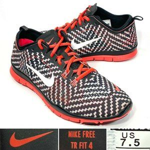 Nike Free TR Fit 4 Womens Size US 7.5, EU 38.5 Patterned Running Training Shoes